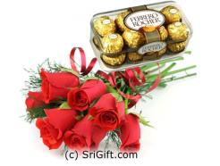 16 pcs Ferrero Rocher with Red Roses