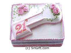 21 Number Cake For Girl