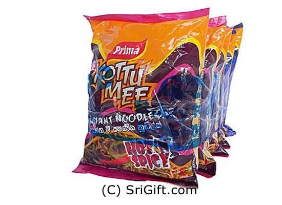 5 Pack Of Prima Kottu Mee Instant Noodles Packet - 510g. Two tasty flavor (Chicken delight hot `n` spicy)