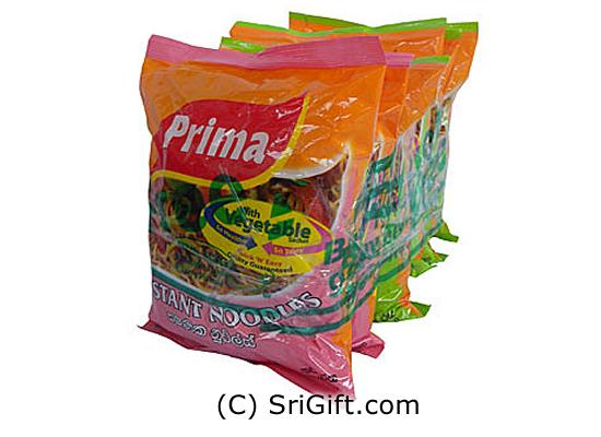 5 Pack Of Prima Instant Noodles Packet - 510g. Two tasty flavor (Chicken & curry) Include vegetable sachet Quick and easy